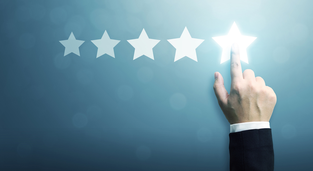 5 star review fake google reviews concept
