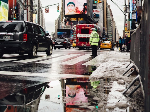 NYC sidewalk slip and fall concept