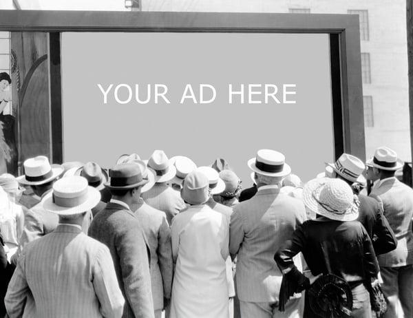advertising blk wht