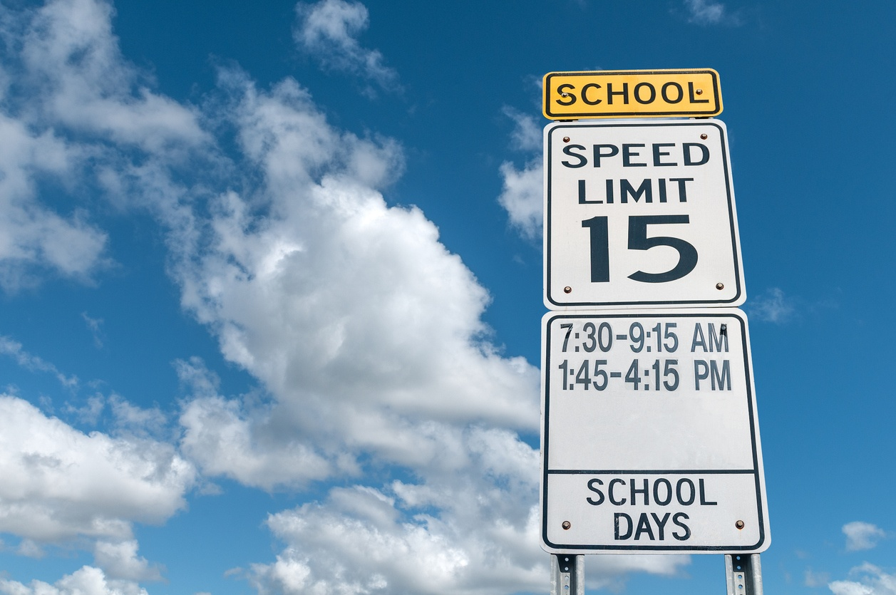 signs- school zone related accidents concept